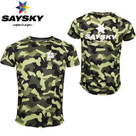 SAYSKY(セイスカイ) ユニセックス メンズ レディース SPLINTER CAMO SS TEE スプリンター半袖Tシャツ カモフラ柄(ランニングシャツ)【返品交換不可】