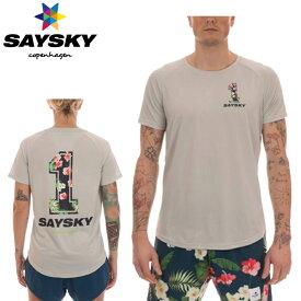 SAYSKY(セイスカイ) ユニセックス TROPIC NO.1 SS TEE トロピカル半袖Tシャツ カモフラ柄(ランニングシャツ)【返品交換不可】