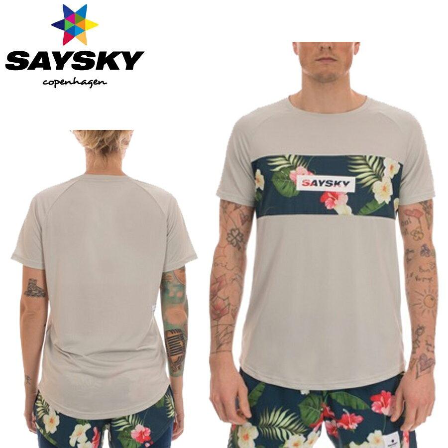 SAYSKY(セイスカイ) ユニセックスTROPIC SS TEE トロピカル半袖Tシャツ (ランニングシャツ)