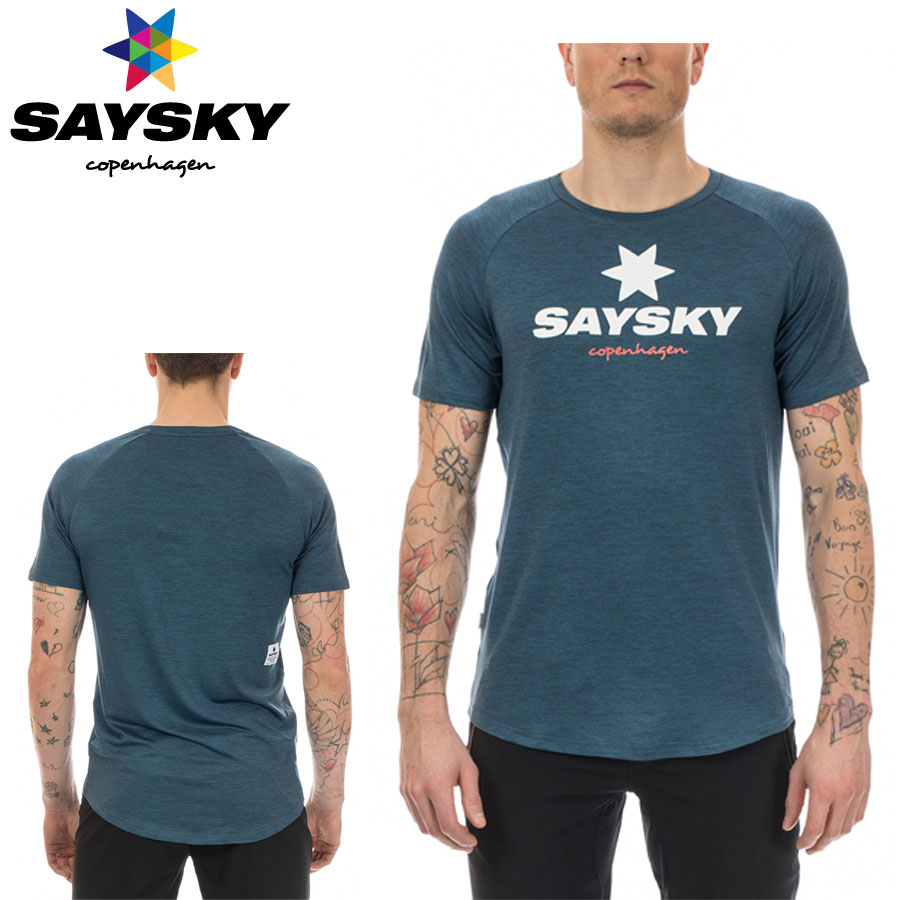 SAYSKY(セイスカイ) ユニセックス CLASSIC SS TEE クラシック半袖Tシャツ(ランニングシャツ)