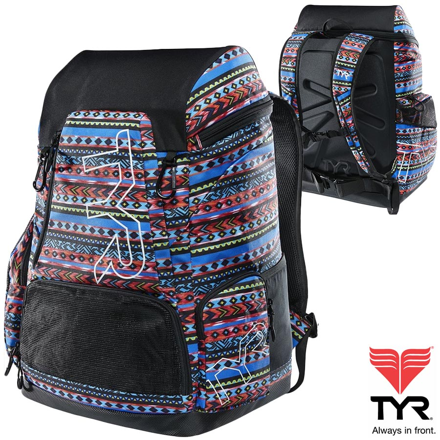 TYR(ティア) ALLIANCE バックパック(容量:45リットル) スイマーにおすすめの大容量バッグ SANTA FE PRINT