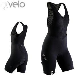 【在庫処分特価】Rivelo(リベロ) レディース TIDESWELL タイズウェル サイクリング 女性用ビブショーツ Black