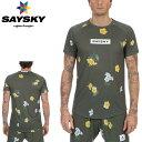 SAYSKY(セイスカイ) ユニセックス FLORAL SS LIGHT TEE フローラルライト半袖Tシャツ(ランニングシャツ) 【返品交…
