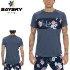 SAYSKY(セイスカイ)ユニセックスFLORALCONTRASTSSLIGHTTEEフローラルコントラスト半袖Tシャツ(ランニングシャツ)【返品交換不可】