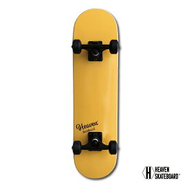 スケートボード 完成品 子供用HEAVEN SKATE BOARD JUNIOR SERIESコンプリート SORBET ORANGE シャーベットオレンジキッズ用 ジュニア用 フルカナディアンメイプル ソフトウィールABEC-7 28.5x7.375インチ 約72.4×18.4センチ 訳あり 特別価格