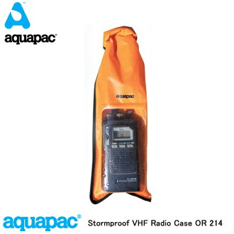 For case ♪ waterproofing, dust proofing, erosion control, the oil, impurity mountain climbing and hiking for the brand aquapac 214 Stormproof VHF Case perfection waterproofing aqua pack storm proof radio machine made in the U.K.-proof-proof! Radio machin