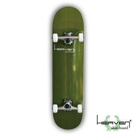 スケートボード スケボーVitamin 31×8 HEAVEN PERFECT SKATE COMPLETEカラー:カーキ Cactus Khaki1番人気のハイスペックモデル 1番人気のサイズ 高品質 カナディアンメープルヘブン コンプリート コンプリ