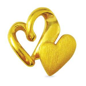 24K 純金 ハート ペア 幸運 ペンダント レディース 女性 イエローゴールド プレゼント 誕生日 贈物 24金 ジュエリー アクセサリー ブランド プリマゴールド PRIMAGOLD K24 送料無料