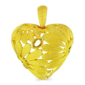 純金 24K デイジー 花 ハート ペンダント レディース 女性 イエローゴールド プレゼント 誕生日 贈物 24金 ジュエリー アクセサリー ブランド プリマゴールド PRIMAGOLD K24 送料無料