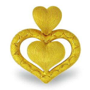 24K 純金 ハートモチーフ ペンダント レディース 女性 イエローゴールド プレゼント 誕生日 贈物 24金 ジュエリー アクセサリー ブランド プリマゴールド PRIMAGOLD K24 送料無料