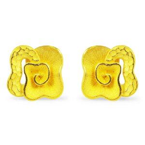 24K 純金 ピアス 送料無料 【 MODERN FLORA(モダン・フローラ) 】 【ピアス】 【pierced earring】 PRIMAGOLD K24 24金 ゴールド