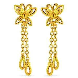 24K 純金 PRIMAGOLD プリマゴールド 送料無料 JUST BUTTERFLY 【ジャスト・バタフライ】 【ピアス】 【pierced earring】 24金 ゴールド