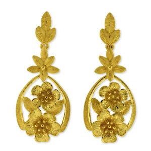 24K 純金 PRIMAGOLD プリマゴールド 送料無料 【 BOLD FLORA(ボールドフローラ) 】 【ピアス】 【pierced earring】 24金 ゴールド