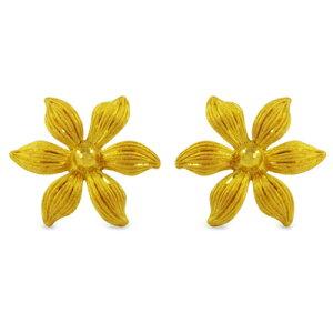 24K 純金 PRIMAGOLD プリマゴールド 送料無料 【STELLA FLORA(ステラ・フローラ)】 【ピアス】 【pierced earring】 24金 ゴールド
