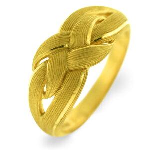 24K 純金 編目模様 リング 指輪 24金 K24 ゴールド モダン エレガント レディース プレゼント 贈り物 女性 PRIMAGOLD プリマゴールド ジュエリー アクセサリー ブランド 送料無料