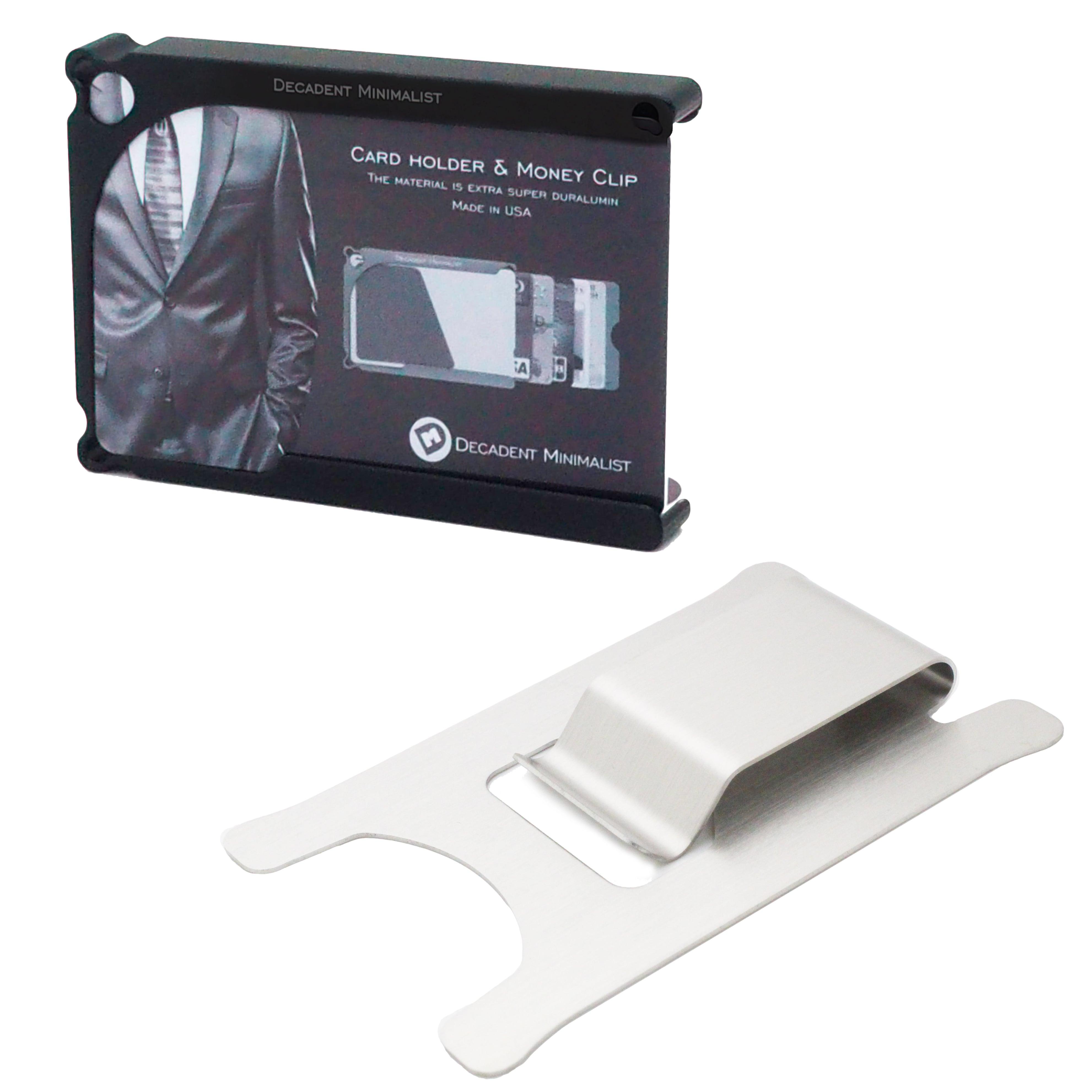 マネークリップ カード ホルダー 8枚サイズ 送料無料 超々ジュラルミン削出 Decadent Minimalist デカデント ミニマリスト 薄い 軽い 財布 ギフト クレジットカード ケース アルミ削り出し マネークリップ 財布
