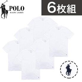 【6枚セット】ポロ・ラルフローレン Tシャツ メンズ 半袖 インナー ルームウェア 肌着 Polo Ralph Lauren トップス ファッション ブランド ロゴ デザイン シンプル