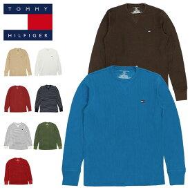 トミーヒルフィガー ロンT サーマル メンズ レディース TOMMY HILFIGER 長袖Tシャツ ロングTシャツ ミニフラッグロゴ ワンポイント 人気 ブランド