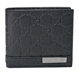 GUCCI365481-AA61R-1000グッチ二折小銭財布グッチシマレザーブラック