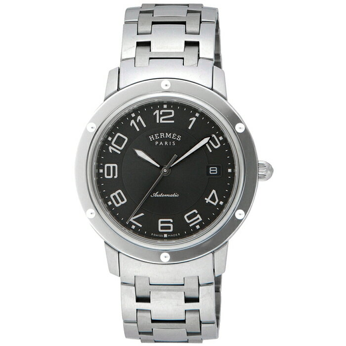 HERMES CP2.810.230/4964CLIPPER クリッパーエルメス メンズ腕時計ステンレススチールベルトダークグレー文字盤