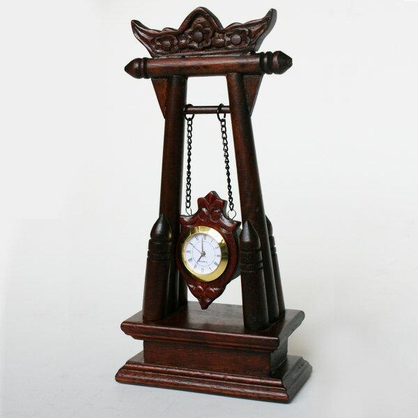 エスニック置時計(ボタン電池式)ぶらぶら揺れる時計ローマ数字時計タイプアジアン雑貨