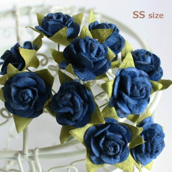 バラ 装飾用造花【花】バラ・紺に近い青10本小さなSSサイズアジアン雑貨販売