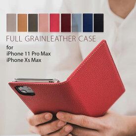 iPhone 11 Pro Max ケース [iPhone XS Max ケース] SLG Design Full Grain Leather Case (フルグレインレザーケース)【カード収納 / 横開き】 メンズ レディース シンプル マグネットなし ワイヤレス充電対応