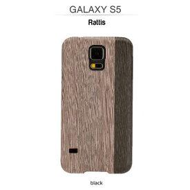 GALAXY S5 ケース 天然木 Man&Wood Real wood case Harmony Lattis (マンアンドウッド ラティス) ブラックフレーム 木目 木のケース 木製 ウッドケース ウッドプレート スマホケース カバー ハードケース ドコモ SC-04F / au SCL23 ギャラクシー galaxy S5