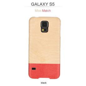 GALAXY S5 ケース 天然木 Man&Wood Real wood case Harmony Miss match (マンアンドウッド ミスマッチ) ブラックフレーム 木目 木のケース 木製 ウッドケース ウッドプレート スマホケース カバー ハードケース ドコモ SC-04F / au SCL23 ギャラクシー galaxy S5