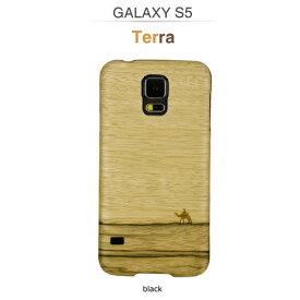 GALAXY S5 ケース 天然木 Man&Wood Real wood case Genuine Terra (マンアンドウッド テラ) ブラックフレーム 木目 木のケース 木製 ウッドケース ウッドプレート スマホケース カバー ハードケース ドコモ SC-04F / au SCL23 ギャラクシー galaxy S5