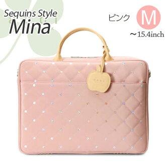 PC밧그레디스 MINA(미나) 핑크) M사이즈(~15.6 인치, A4) 멋쟁이 abbi NY아비뉴요크