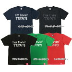 ABCオリジナルス「I'mlovin'TENNIS」ロゴDRYTシャツ(w-0011)