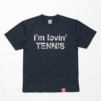 ABCオリジナルス「I'mlovin'TENNIS」ロゴDRYTシャツネイビー×ホワイト(w-0012)