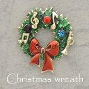 クリスマスリース ピンブローチ タックピン ブローチピン 襟 レディースジュエリー アクセサリー