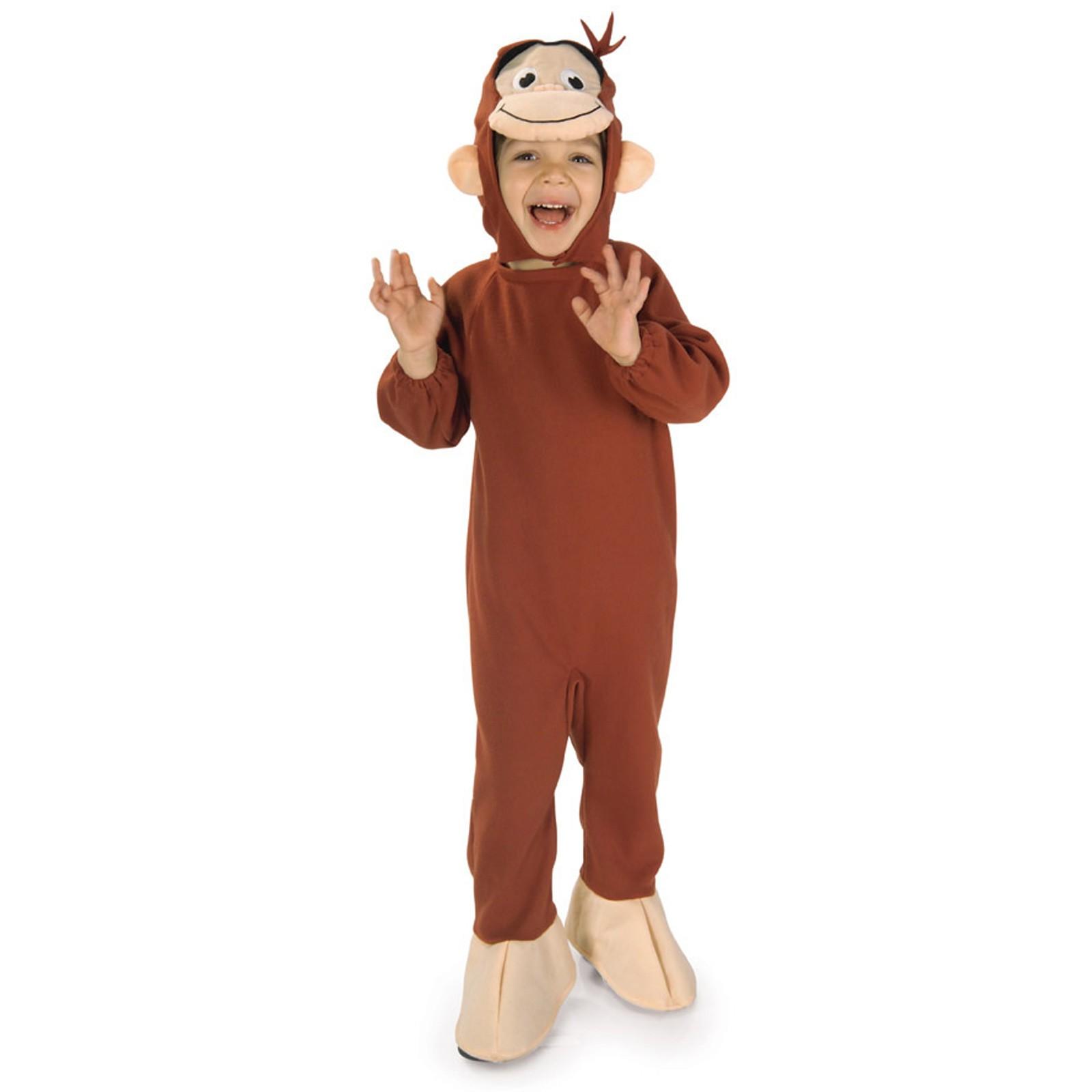 おさるのジョージ コスプレ コスチューム 子供 幼児用 猿 サル きぐるみ 動物 ハロウィン 仮装 アニメキャラクター 申年 あす楽
