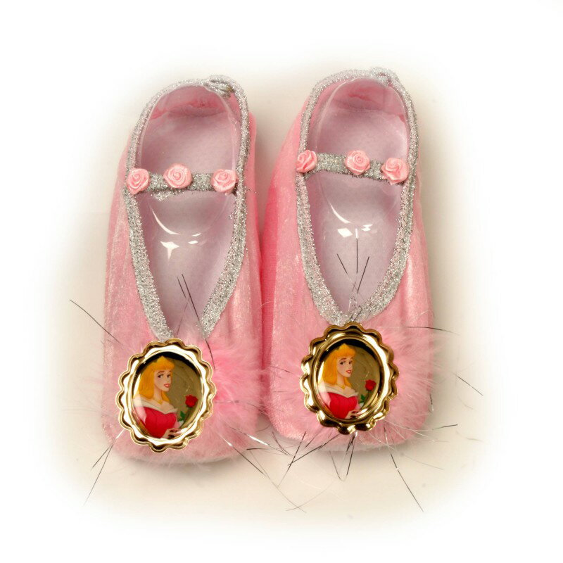 オーロラ姫 グッズ 靴 シューズ 子供用 ピンク ディズニープリンセス 眠れる森の美女 バレエシューズ コスプレ 仮装 お姫様 あす楽