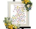 【Disney】ディズニーのウェルカムボード ウェディングツリー ラプンツェル(花飾り)※30名〜75名用 ウェディング ウエディング ブライダル