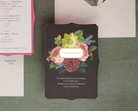 【印刷してお届け!】結婚式招待状 レディボタニカル(10枚セット)(印刷込み) ウエディング 招待状 ブライダル ウェディング bridal