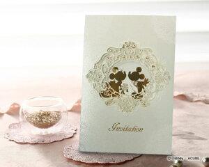 【Disneyzone】ウエディング 招待状 結婚式 手作りセット ブライダル ウェディング bridal 婚礼 ディズニー招待状 プリム 10枚セット 結婚式用手作りキット【ミッキー&ミニー】
