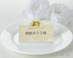【Disneyzone】席札 結婚式 ウエディング ブライダル ディズニー席札 フィヨナ 12名分 結婚式用手作りキット【ミッキー&ミニー】