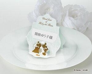 【Disneyzone】席札 結婚式 ウエディング ブライダル ディズニー席札 プリム 12名分 結婚式用手作りキット bridal【ミッキー&ミニー】