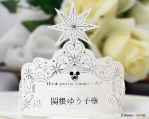 【Disneyzone】ディズニー席札 ディジル(ティアラタイプ)(12名分) 結婚式用手作りキット