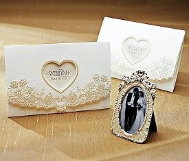 【印刷してお届け!】結婚式招待状 ブローダリーB(印刷込み) ブライダル ウェディング bridal