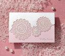 招待状 手作りセット 結婚式 ウエディング 結婚式招待状 レースP ピンク 手作りキット ブライダル ウェディング bridal