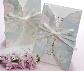 【印刷してお届け!】結婚式招待状 ギフトBL(ブルー)(印刷込み) 招待状 印刷込 ブライダル ウェディング bridal