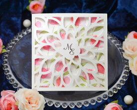【印刷してお届け!】結婚式招待状 チューリップA(印刷込み) 招待状 印刷込 ブライダル ウェディング bridal