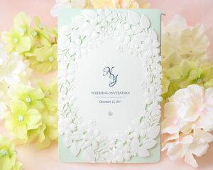 【印刷してお届け!】結婚式招待状 コンフォールBL(ブルー)(印刷込み) 招待状 印刷込 ブライダル ウェディング bridal
