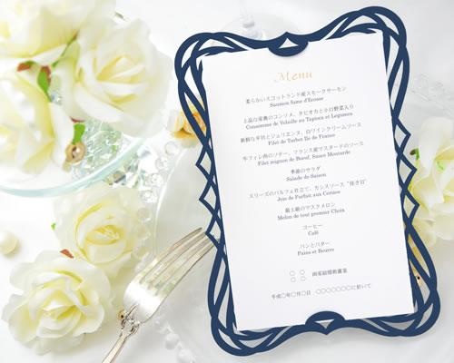 【印刷してお届け!】結婚式メニュー表 アールヌーヴォー(印刷込み) ブライダル ウェディング bridal