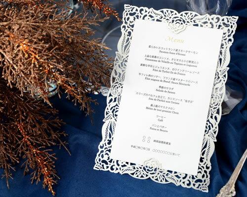 【印刷してお届け!】結婚式メニュー表 ボナペティW(印刷込み) ブライダル ウェディング bridal