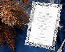 【印刷してお届け!】 メニュー表 結婚式 結婚式メニュー表 ボナペティW(印刷込み) ブライダル ウェディング bridal